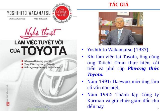 Nghệ thuật làm việc tuyệt vời của Toyota - Yoshihito Wakamatsu (quản trị và lãnh đạo) review